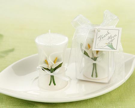 Calla Lily Elegance Vase Shaped Candle