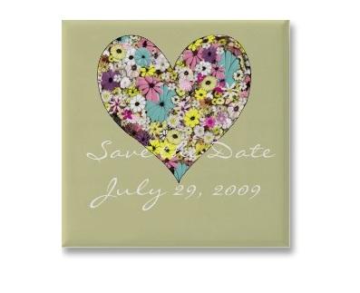 Personalized Love Flower  Mouse Pad or Fridge Magnet (Min order 50pcs)