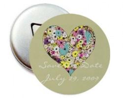 Personalized Love Flower  Mouse Pad or Fridge Magnet (Min order 50pcs) Image 1